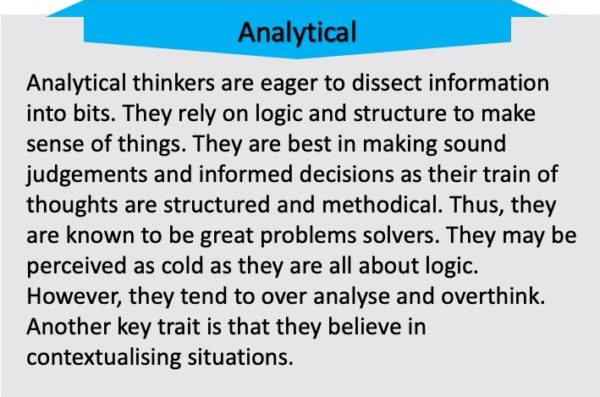 Analytical Thinkers